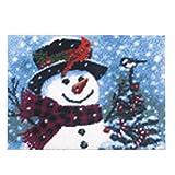 7 Modell Weihnachten Knüpfteppich für Kinder und Erwachsene zum Selber Knüpfen Teppich Latch Hook Kit child Rug Christmas044 52 by 38 cm