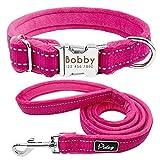 Didog Hundehalsband, weich gepolstert, Flanell gepolstert, reflektierendes Halsband für Kleine und mittelgroße Hunde