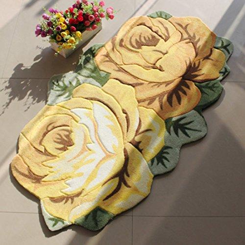 sannix-rose-blumen-bereich-teppich-teppich-matte-polyester-textil-schwamm-gelb-5585cm