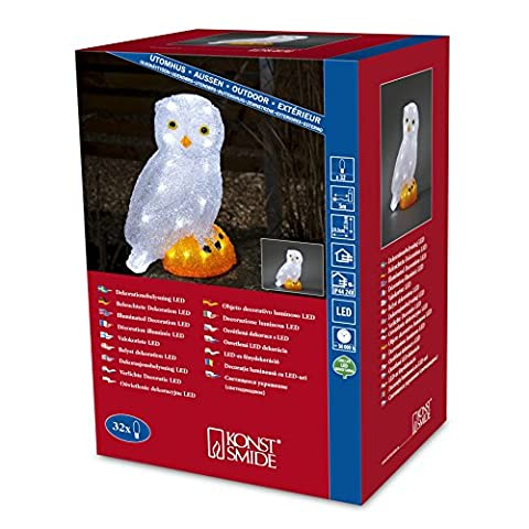 Acrylic LED Owl 27.5cm by