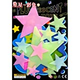 20 x BestOfferBuy Stars Color Glow In The Dark Luminous Fluorescent PVC Wall Stickers