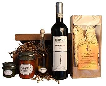 Geschenkset Tavola Italiano Piemonteser Feinkost und Chianti (1 x 0.75 l)