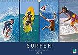 Surfen: Spiel mit den Wellen - Wellenreiten (Wandkalender 2018 DIN A3 quer): Wind auf der Haut und Meeresrauschen im Ohr (Monatskalender, 14 Seiten) [Kalender] [Apr 13, 2017] CALVENDO, k.A.