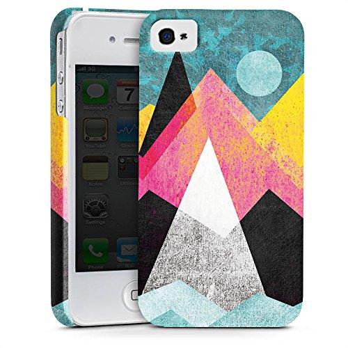 Apple iPhone X Silikon Hülle Case Schutzhülle Berge Mond Muster Premium Case glänzend