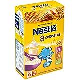 Nestlé Papillas - 8 Cereales Papilla Instantánea - A Partir de 6 Meses - 3 Paquetes de 600 g - Total: 1800 g