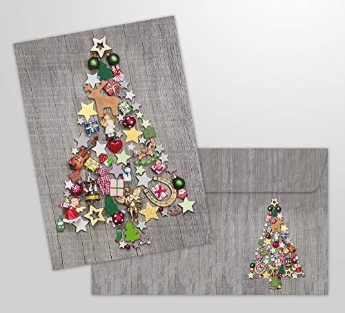 5. Edition Colibri - Tarjetas Árbol de Navidad colorido