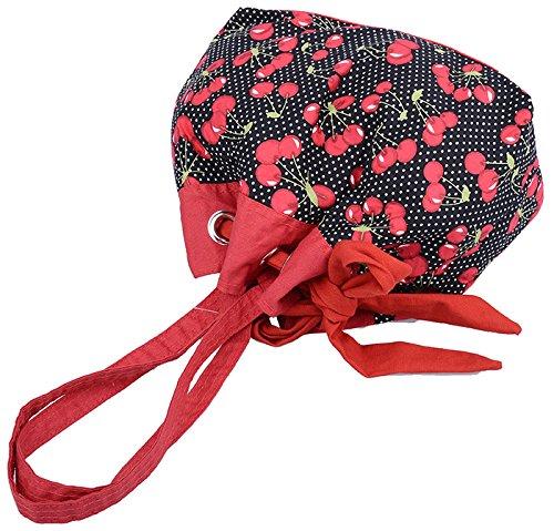 Küstenluder Damen Tasche Monique Cherry Dots Beuteltasche Schwarz Schwarz / Rot