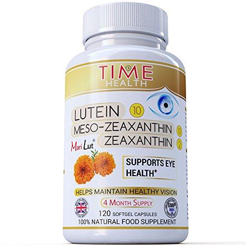 Lutein: Formel MariLut® - Lutein 10 mg, Meso-Zeaxanthin 10 mg, Zeaxanthin 2 mg (120 Softgelkapseln pro Flasche)