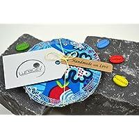 Peelingpads aus Bio-Baumwolle, 5 Stück, Kosmetikpad, Abschminkpad, Reinigungspad, bunt, creme, beige, natur, grün, blau, rot