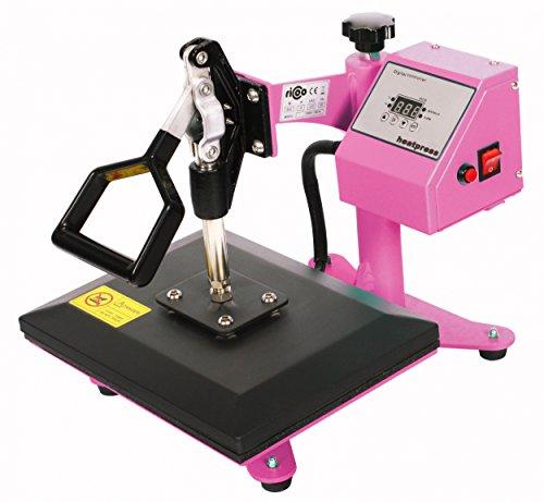 RICOO Transferpresse Power Zwerg-TW Druckfläche: 23x30cm Textildruckpresse Textilpresse Transfer Presse Thermopresse T-Shirtpresse Sublimationspresse geeignet für Flexfolie und Flockfolie || Shirt bedrucken günstig || Farbe: Verkehrsweiss - 2