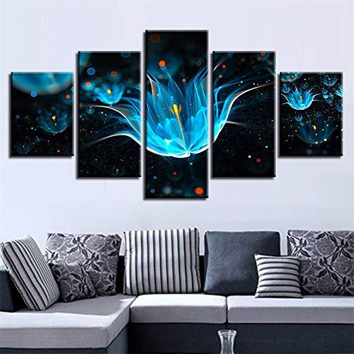 Dekorative Malerei,Raum fünf Kampf abstrakte Blumen Blumen hängen Malerei Tusche Malerei Home Wandbild modernen Stil 5 Malerei Kern 20x35cmx2 20x45cmx2 20x55cmx1
