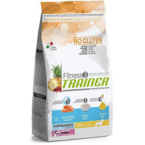 Trainer Fitness 3 No Gluten Puppy Mini con Salmone Riso e Olio 2kg