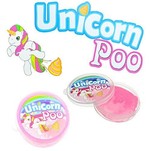 HENBRANDT Poo Unicorno Rosa Glitter Slime Putty Tub Squishy Antistress Giocattolo