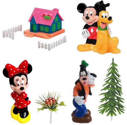 kit-topper-walt-disney-topolino-minnie-pippo-pluto-e-decorazioni-modecor-set-11-pezzi