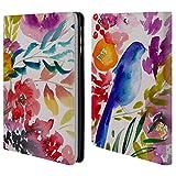 Head Case Designs Offizielle Mai Autumn Blauer Vogel Blumiger Garten Brieftasche Handyhülle aus Leder für iPad Mini 1 / Mini 2 / Mini 3