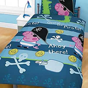 Peppa Pig George Duvet Cover and Pillowcase 'Pirate ...