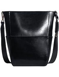 4f811eebc87 Bolso Bandolera De Piel Autentico Color Marrón Bolsa Mujer para Diario  Bolsos De Tipo Shopping Cuero