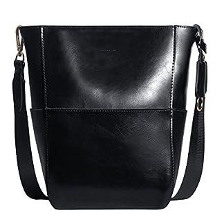 51s cYvGvnL. SS324  - Bolso Bandolera De Piel Autentico Color Marrón Bolsa Mujer para Diario Bolsos De Tipo Shopping Cuero para Señoras Bolsos De Hombro