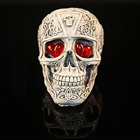 SLG Decoración de Halloween/Nuevos juguetes creativos/Suplantar apoyos Tricky/decoraciones del cráneo de resina-A