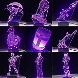 shiyueNB 3D LED Lampe Nachtlicht PUBG TPS Scar-L USB Atmosphäre Beleuchtung Spiel Fans Geschenk Alle Skins Schreibtisch Tischlampe Dekor