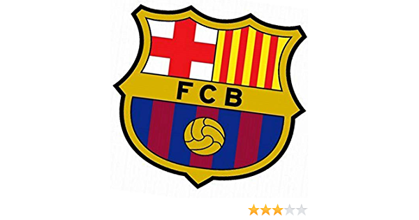 Soccik FC Barcelona Emblem Mit Klebestreifen Auto Aufkleber Langlebig Auto Chrom Emblem Glaenzend Auto Abzeichen Styling Mode Wasserdicht Auto Aufkleber