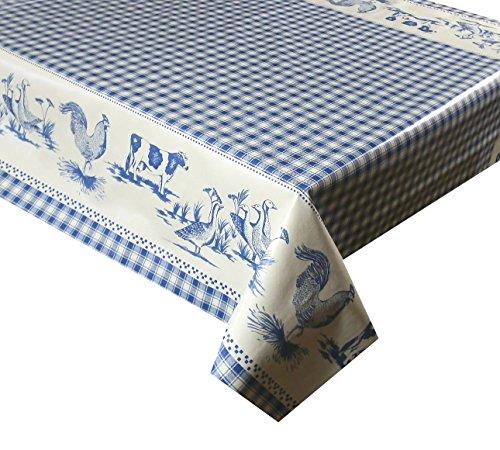 3metros (300x 137cm) vinilo mantel azul y blanco de cuadros de animales...
