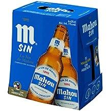 Mahou Sin Cerveza sin alcohol - Pack de 6 x 25 cl - Total: 1