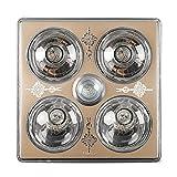 HWF Badezimmer Wärmelampe Decke Badezimmer Wärme Lampe Licht Led Beleuchtung Dreifach Multifunktions Glühbirne 30 * 30 cm Deckenleuchten ( Farbe : Crystal light bulb )