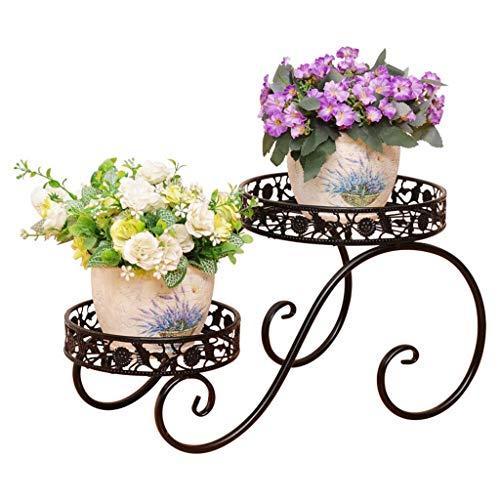 IU Desert Rose Étagère de balcon Support à fleurs Support de pot multi-couches Balcon Salon Étagère à fleurs Étagère à fleurs charnue à radis vert intérieur et extérieur Support à deux niveaux (Couleu