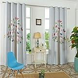 GWELL Kinderzimmer Gardinen Vorhang Baum Ösenschal Dekoschal für Wohnzimmer Schlafzimmer 90% Blickdicht 1er-Pack 270x130cm(HxB)