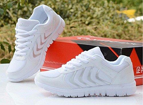 Zolimx Sport Flats Schuhe Damen Sommer Lässige Breathble Mesh Athletic Sneakers Weiß