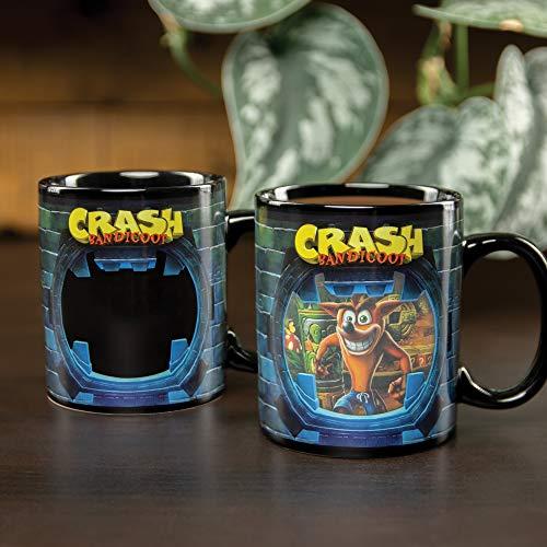Paladone Products Heat Change Mug Crash Bandicoot Tassen, Standardgröße
