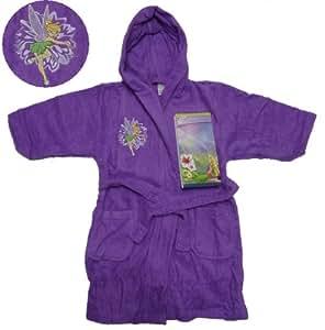 Peignoir de bain à capuche Enfant DISNEY FAIRIES • Robe de chambre Fée Clochette • 4, 5 ANS • drap serviette poncho Tinkerbell