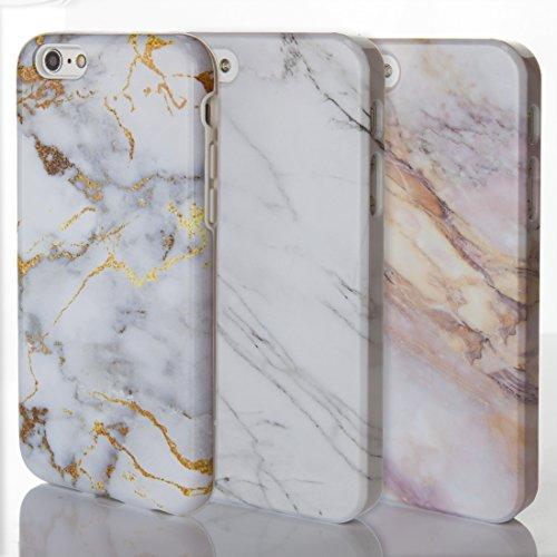 Étuis de téléphone pour iPhone Motif Marbre Pierre naturelle texturé brillant Designs sur mesure par iCaseDesigner, plastique, 13: Grey and White Marble v2, iPhone 5 / 5S / SE - Slim Case 2: Grey Vein in White Marble