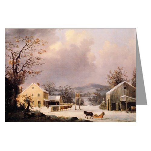 currier-and-ives-holiday-country-inn-note-card-set