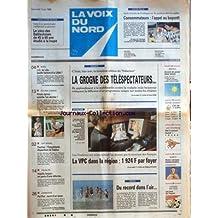 VOIX DU NORD (LA) [No 16166] du 07/06/1996 - SIDACTION - LA GROGNE DES TELESPECTATEURS - CAMBODGE - POL POT LA MORT D'UN TYRAN - TOURNAI - LA DISPARITION DE SABINE - 13 ANS - LES SPORTS - TENNIS - JO DE LILLE 2004 - VACHE FOLLE - L'APPEL AU BOYCOTT