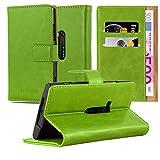 Cadorabo Hülle für Nokia Lumia 920 - Hülle in Gras GRÜN – Handyhülle im Luxury Design mit Kartenfach und Standfunktion - Case Cover Schutzhülle Etui Tasche Book