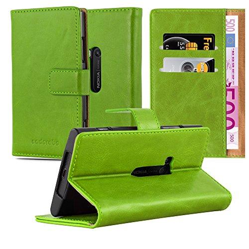 Preisvergleich Produktbild Cadorabo Hülle für Nokia Lumia 920 - Hülle in Gras GRÜN – Handyhülle im Luxury Design mit Kartenfach und Standfunktion - Case Cover Schutzhülle Etui Tasche Book