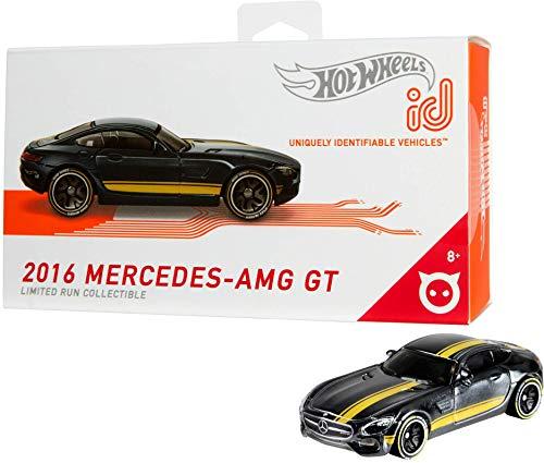 Hot Wheels iD FXB15 - Die-Cast Fahrzeug 1:64 2016 Mercedes AMG GT mit NFC-Chip zum Scannen in der Hot Wheels iD App, Auto Spielzeug ab 8 Jahren