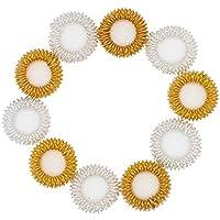 Preisvergleich für Ranvi 10 stücke akupressur massage ringe, chinesische medizin schmerztherapie finger zirkulation ringe (golden...