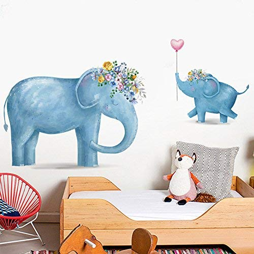 Etiqueta de la pared calcomanías de bricolaje Lindos dibujos animados de elefantes,...