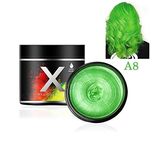 wachs Temporäre Modellierung Schlamm Haarfarbe Wachs DIY Haarstyling Creme,Grün (Grün Haarfarbe Gel)