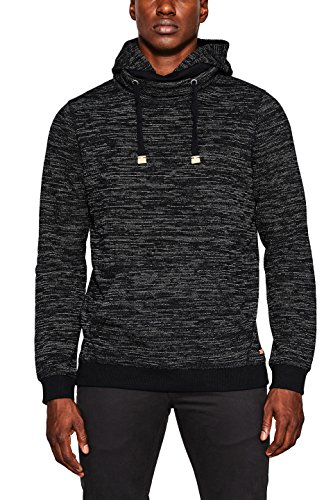edc by ESPRIT Herren Sweatshirt 097CC2J009, Schwarz (Black 001), Medium