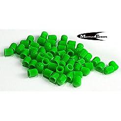 20 tappi antipolvere per valvole pneumatici, in plastica, colore: verde