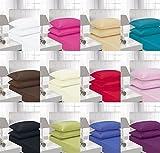 Bügelfreie EASY CARE 40 cm, extra tief geschnittene Bettwäsche -  PERCALE Qualität für dicke...