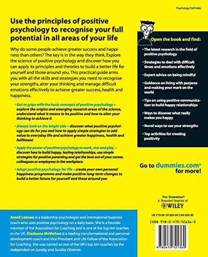 Positive Psychology For Dummies®