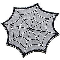 Spinnennetz Patch Applikation zum Aufbügeln Aufnäher Accessoire gestickt