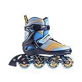 Spokey AVATE Kinderinliner Verstellbar Inliner Inlineskates für Kinder Jugendliche größenverstellbar Skating Inlineskate Funsport (Blau, 31-34)