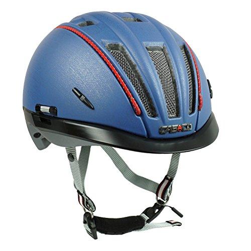 Casco Fahrradhelm Roadster-TC, Jeansblau - Biese rot, Gr. S-M (55-57 cm)