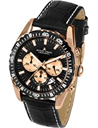 Jacques Lemans Herren-Armbanduhr XL Liverpool Chronograph Quarz Leder 1-1801E